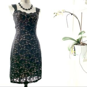 Frederick's of Hollywood black lace stretch dress